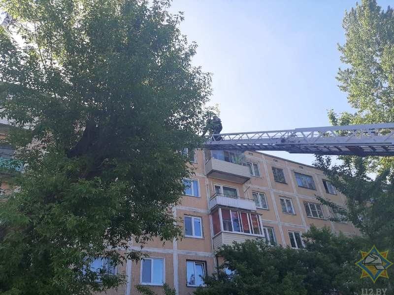 В Витебске работниками МЧС на пожаре спасена пенсионерка