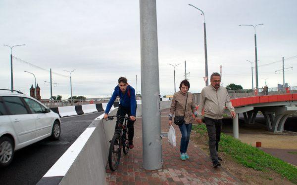 Почему первые пешеходы недовольны новым путепроводом в Витебске?