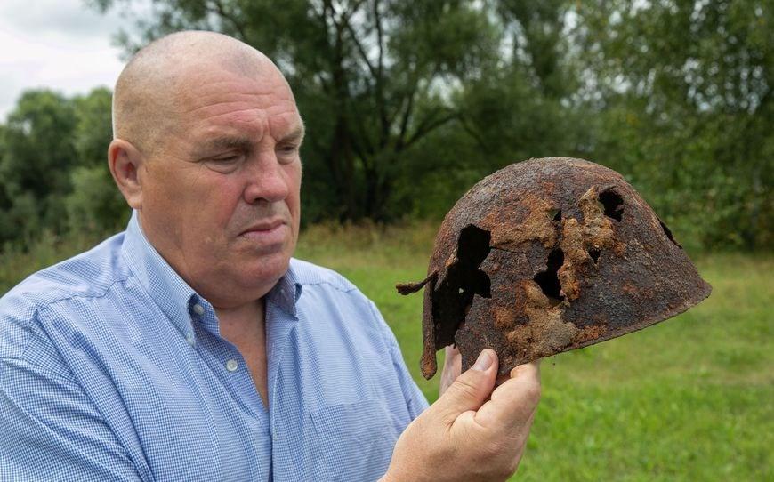 В Витебском районе нашли фрагменты блиндажа и останки красноармейцев