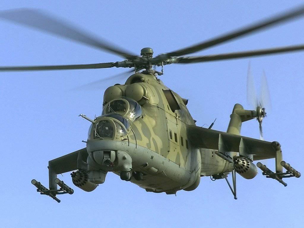 Минобороны Беларуси подняло в воздух группу ударных вертолетов МИ-24 для перехвата воздушных шаров