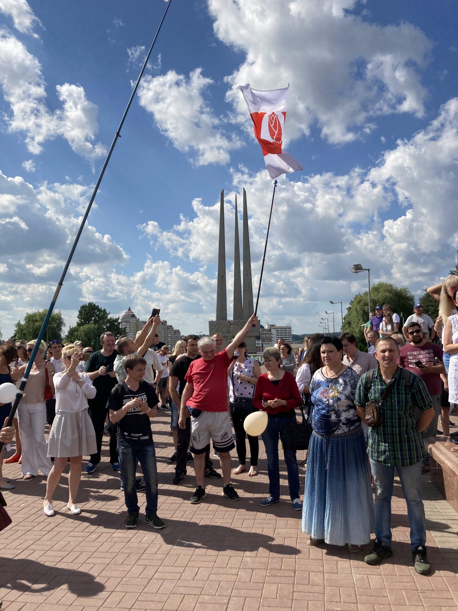 Восьмой день мирного протеста в Витебске