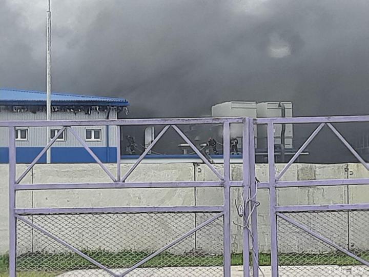 В Орше горел завод «Савушкин продукт», куда вчера приезжал Лукашенко