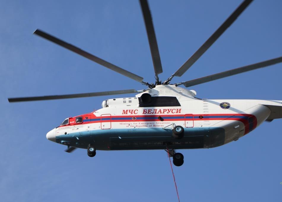 В Витебске спасатели провели демонстрационные учения