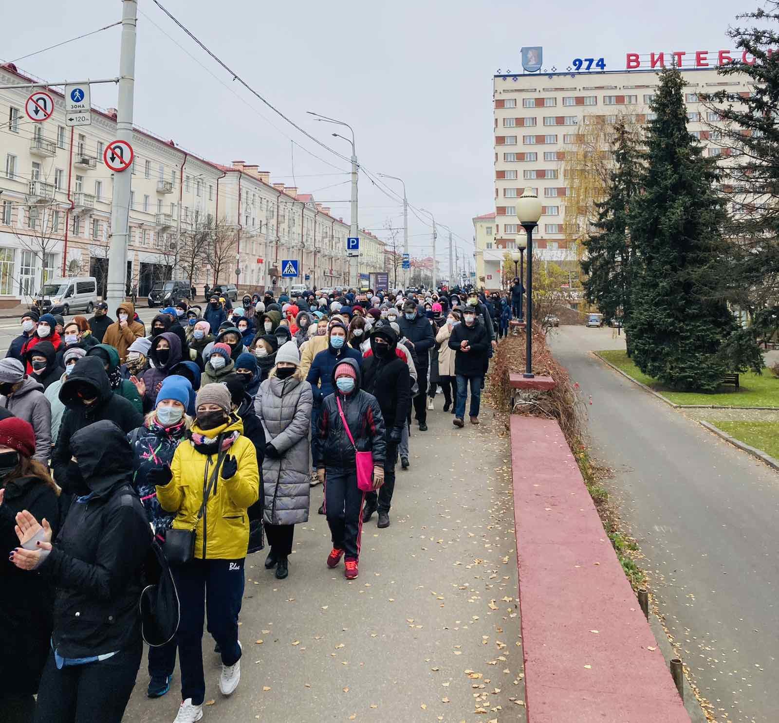 В Витебске прошел Марш памяти Романа Бондаренко
