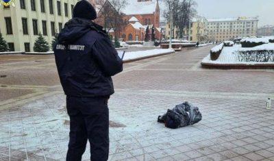 Опубликовано видео акта самосожжения человека возле Дома правительства вМинске