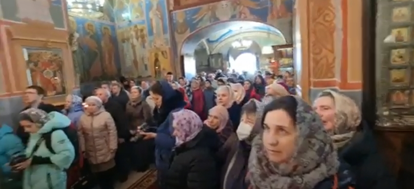 Патриарший Экзарх всея Беларуси Вениамин провел праздничное Всенощное бдение в Витебске накануне Благовещения